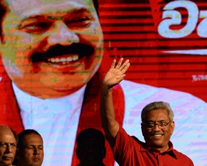 """Gotabaya Rajapaksa, der har tilnavnet """"Terminator"""", er vinder af lørdagens præsidentvalg i Sri Lanka."""