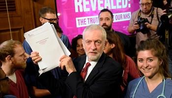 Dokumenter, der er dukket op kort før det britiske valg, viser angiveligt hemmelige planer for sundhedssektor.