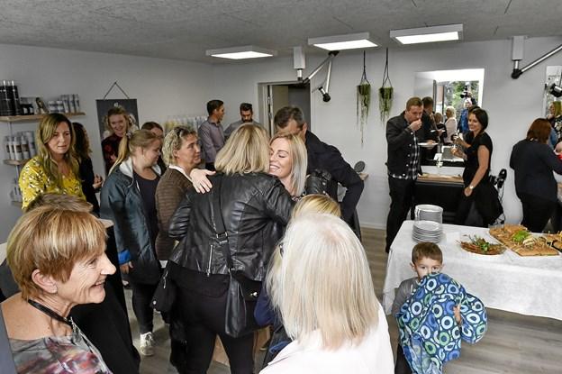 Kvali:Tids indehavere tog imod mange gæster til receptionen. Foto: Ole Iversen
