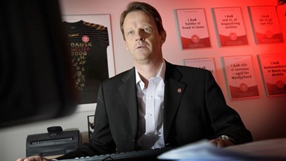 AaB-direktør Poul Sørensen tror på en overlevelse for ishockey-delen.  Foto: Michael Koch