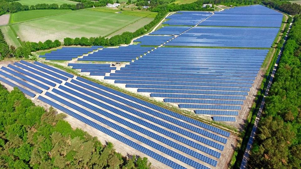 Solceller på Læsø. Arkivfoto