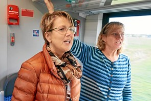 Passagerer kom på en spektakulær togtur