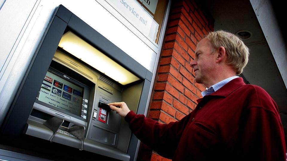 Pengeautomaten er det eneste, der bliver tilbage i Ranum. Arkivfoto: Klaus Madsen