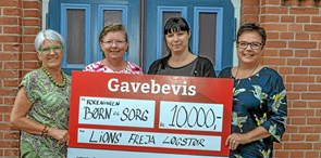 Lions Freja donerer 10.000 kroner til Børn og Sorg
