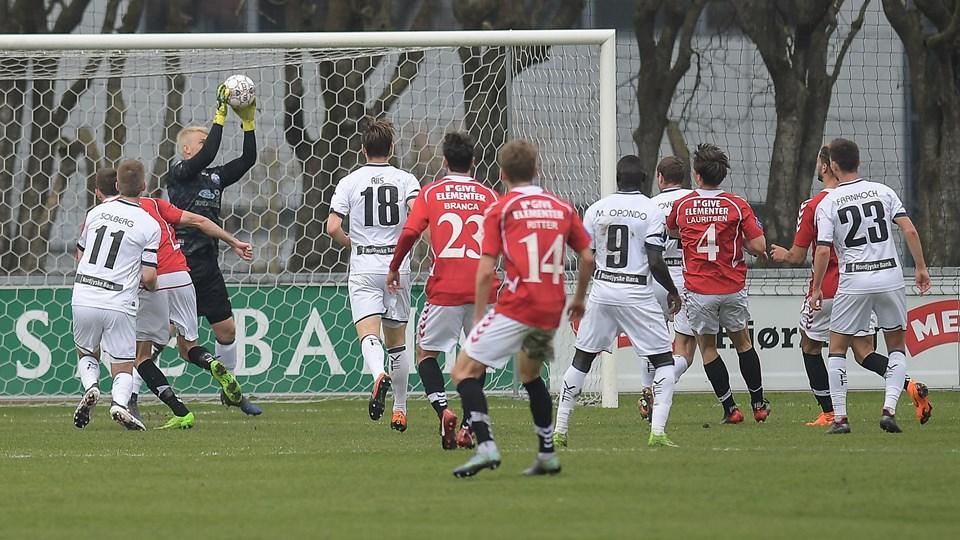 Vendsyssel FF kan glæde sig over, at de stadig er med i topkampen trods søndagens nederlag. Foto: Peter Broen