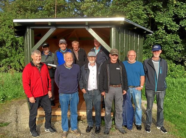 De frivillige fra golfklubben ved hul 14.Foto: Kasper Mølbæk