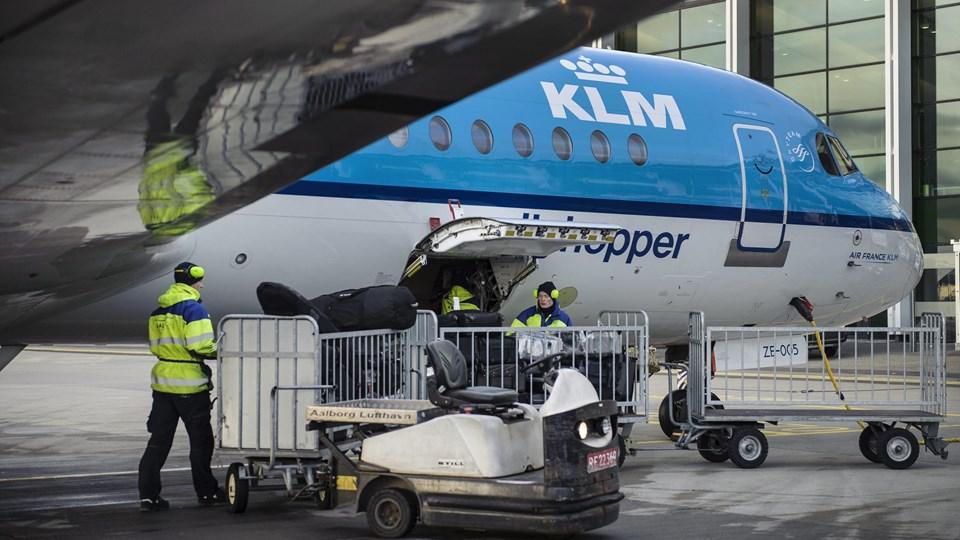 Det er udenrigsruterne, der har skabt fremgang i Aalborg Lufthavn. Arkivfoto: Daniel Bygballe