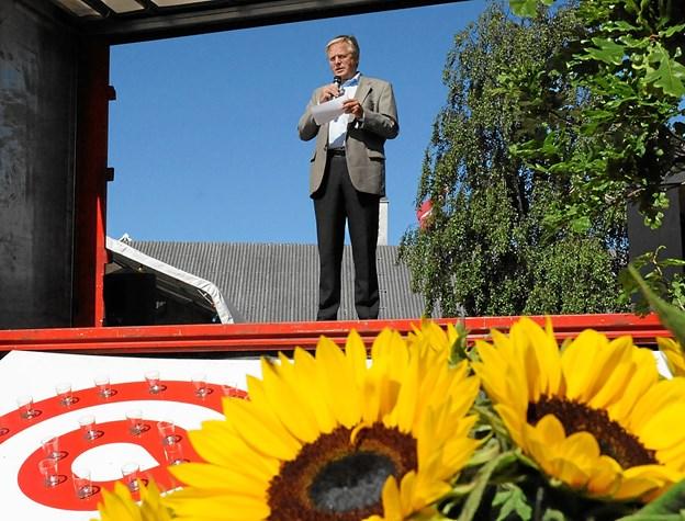 Det var borgmester Erik Sørensen, der i 2009 åbnede den første Stafet for Livet på Sundhedshøjskolen Diget i Ålbæk. Foto: Carsten Thomasen