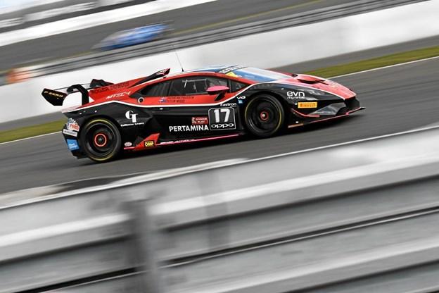 Jacob Mathiassen havde godt fart i sin Lamborghini.Privatfoto