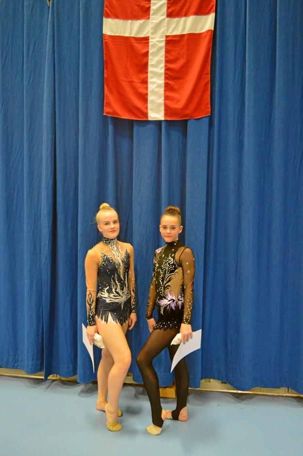 Alberte Larsen og Camilla Christensen måtte se sig slået af stærke konkurrenter