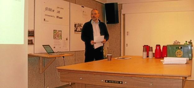Bjørn Skovhus aflægger beretning på årets hovedgeneralforsamling i LKB-Gistrup. Foto: Kjeld Mølbæk