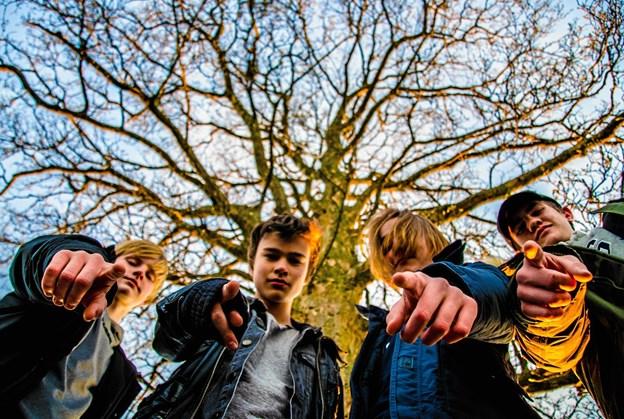 """""""Pre Stasis"""" er fra venstre: William, Liam, Kristian og Jonas. Foto: Martin von Seelen"""
