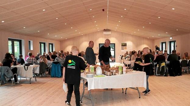 i år var den nye staklade taget i brug, der var derfor plads til alle gæsterne på en gang, sådan vil det også være fremover. Foto: Peter Jørgensen Peter Jørgensen