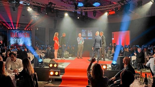 Fra weekendens Danish Bike Award, hvor Michael Valgren tog to af de 10 priser. Privatfoto