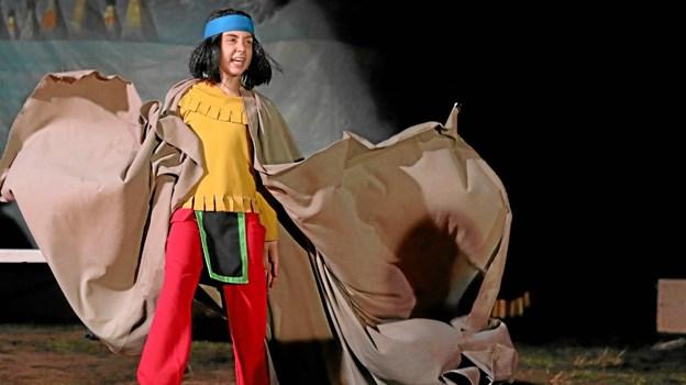 Yakari blev spillet af 12-årige Nynne Hulsig Samuelsen. Foto: Allan Mortensen
