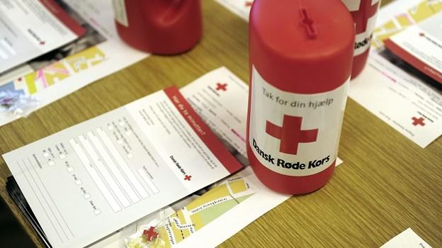Røde Kors i Løkken-Vrå takker for hjælpen med indsamlingen.   Arkivfoto