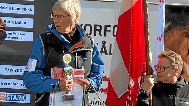 Elke Reimer med Bertha 3. plads i B-klassen. FOTO: Sanne Iversen