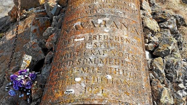 Peter Freuchens hustru, Navarana, ligger begravet i Upernavik. Privatfoto Privatfoto