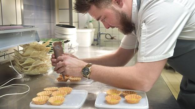 Her ses køkkenchefen fra Ruths Hotel, Peter Frydkjær. Foto: Bente Poder
