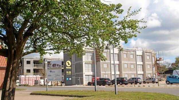 Rejsegilde for de nye boliger på slagterigrunden i Vrå.   Foto: Arne larsen-Ledet
