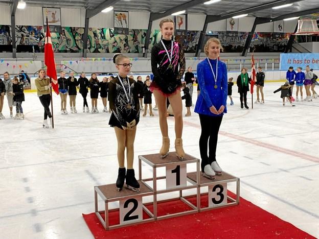 Hele to medaljer blev det til i funskate-finalen. Silke Skrubbeltang tog guld og Lærke Andersen fik sølvmedaljen. Privatfoto
