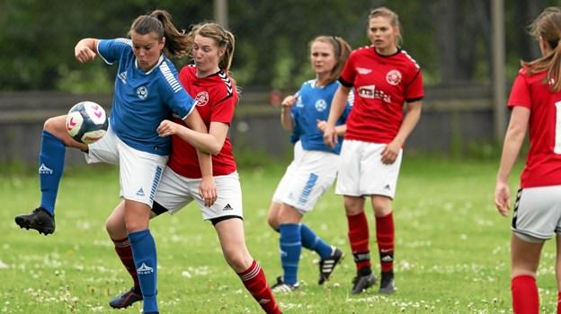 Holtet i røde bluser vandt 4-2 i søndagens hjemmekamp mod Støvring IF. Foto: Allan Mortensen