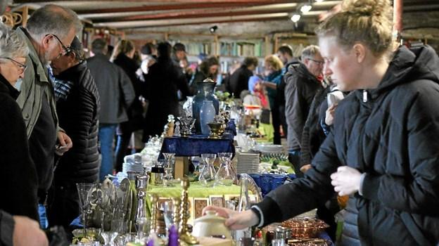 Loppemarkederne er altid velbesøgte. Foto: Flemming Dahl Jensen