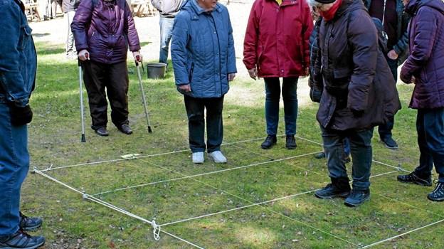 Mens det ene hold gik søen rundt med naturvejleder Jakob Kofoed, var der arrangeret gamle lege for det andet hold. Foto: Niels Helver