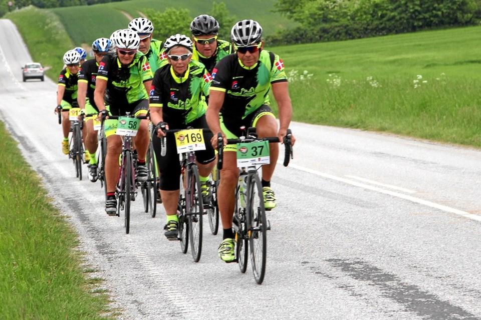 Stig Nikolaisen og Team Sundhedspedeller deltog i Rødspætteløbet i fjor. Privatfoto: Henrik Holmberg. Picasa