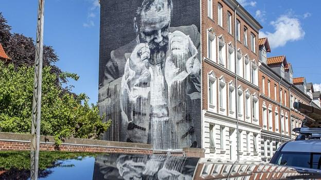 Conor Harringtons værk i Helgolandsgade er et af de mange markante værker. Arkivfoto: Lars Pauli