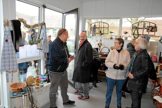 Der er mange flotte ting i forretningen. Foto: Flemming Dahl Jensen Flemming Dahl Jensen