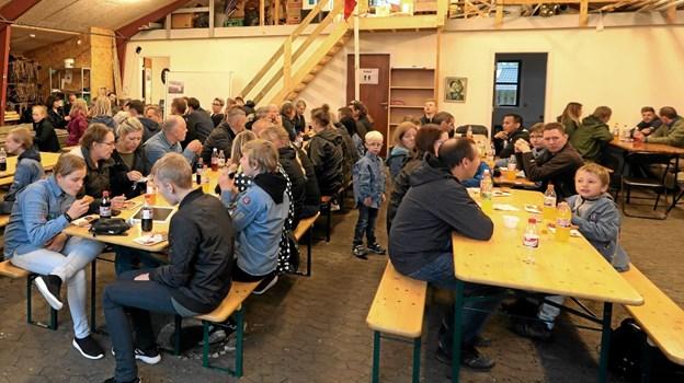Der var stort fremmøde til sæsonafslutningen hos FDF Vester Hassing. Foto: Allan Mortensen Allan Mortensen