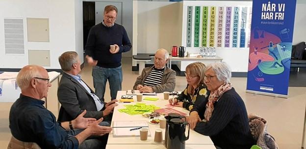 Bjarke Dyhr Lynnerup, medlem af Kultur- og Fritidsudvalget og Uffe Borg fra Center for Kultur og Fritid, styrede aftenens møde. Foto: Ole Svendsen