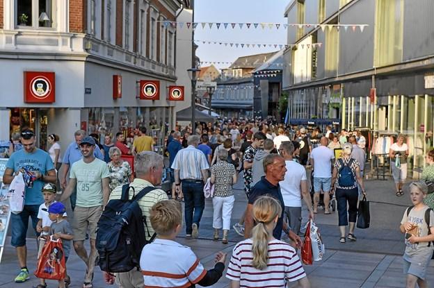 Alle gader i Thisted var pakket af gæster. Foto: Ole Iversen
