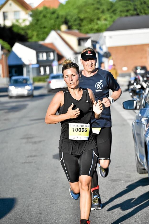 Jane Pedersen sluttede på 3.pladsen hos kvinder på 6 km. Foto: Ole Iversen