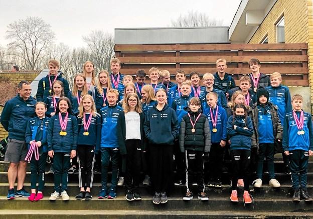 Thisted Swims hold i Viborg, der gjorde det rigtig godt og tog ikke færre end 46 medaljer med hjem.Privatfoto