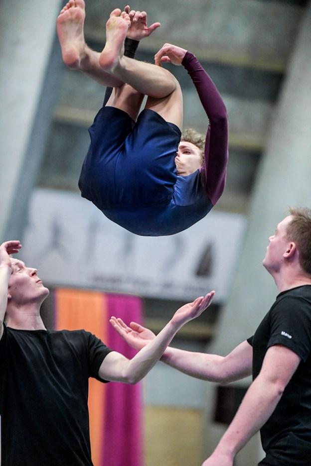 14-årige Lasse Hummeluhr fra Aars i spring. Han har trænet på Vesthimmerlands Landsdelsjuniorhold i fire år. Torben Hansen
