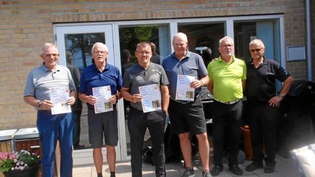 Dagens næstbedste hold: Bo Falkesen, Finn Andersen, John Jørgensen og Elvin Dalsgaard. Privatfoto