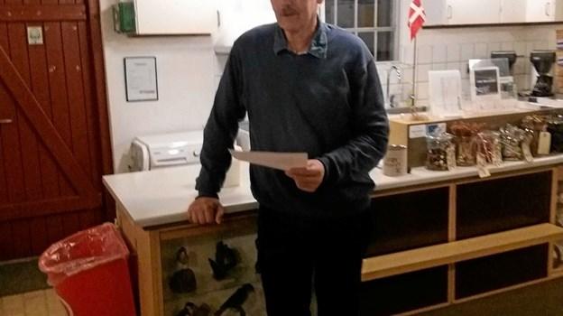 Kasserer Jørgen Abildgaard aflægger regnskabsberetningen. Privatfoto privatfoto