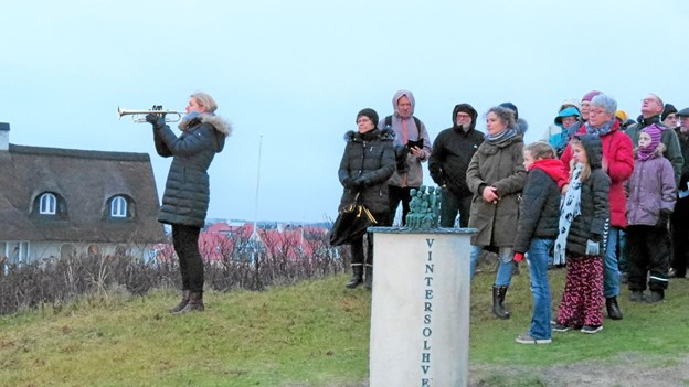 Ane Møller blæste Retræten ud over det grå himmelhvælv. Foto: Kirsten Olsen Kirsten Olsen