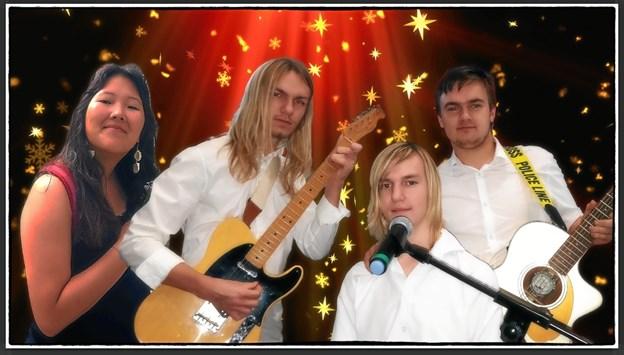 """Musikken til """"nytårshøjtidelighed"""" leveres af kvartetten Julefryd. Privatfoto"""
