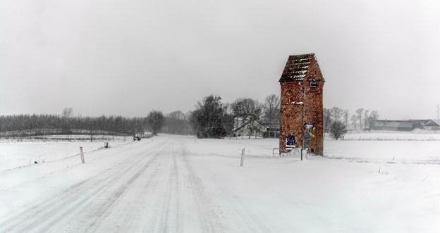 Transformatortårn mellem Jerslev og Hellum. Foto: Randi Møgelmose