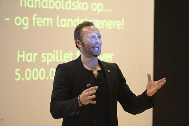 Lars Christiansen kommer 22. maj til Hørdum Hallen og fortæller om anekdoter fra sin lange karriere som landsholds og tophåndboldspiller. Arkivfoto: Michael Bygballe