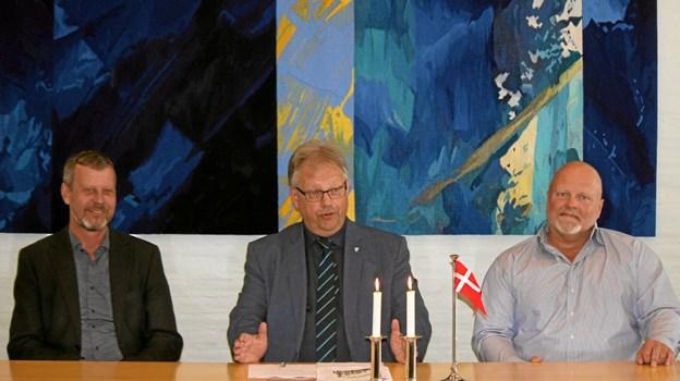 Borgmester Mogens Chr. Gade glæder sig til samarbejdet omkring det nye skolebyggeri i Jetsmark. Foto: Flemming Dahl Jensen