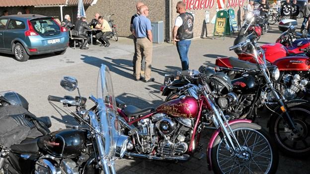 Intet træf uden pudsede og polerede Harley Davidson maskiner. Foto: Tommy Thomsen Tommy Thomsen