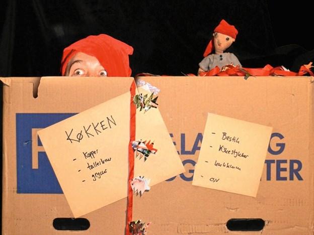 """Børneteaterforestillingen """"En rigtig nisse"""" - vises 6. december på biblioteket i Løgstør.  Privatfoto"""