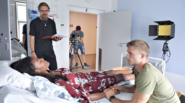 Her ses aktiviteterne under optagelser til kortfilmen - Sidste chance Foto: Bente Poder