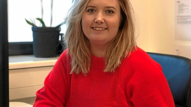 Karina Kjær Bech er kommet godt i gang med sit bureau i Aabybro. Privatfoto