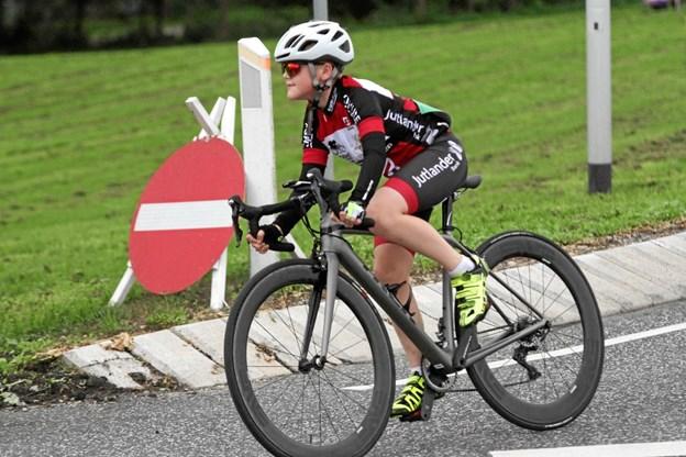 Lucas Bach Sørensen - på vej mod en af sine tre sejre på stribe i U11-klassen. Privatfoto