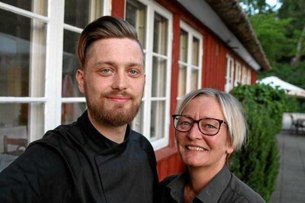 Helene Foss Pedersen driver i dag Mosskov Pavillonen sammen med sønnen Alexander, der er uddannet kok og køkkenchef. Privatfoto
